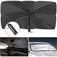 Sharink Car Windshield Sun Shade Umbrella,Blocks UV Rays Sun Visor Protector,Sunshade Umbrella to Keep Your Vehicle Cool…