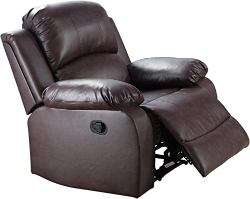 Ainehome Recliner Chair Bonded Leather Motion Chair Recliner Couch Manual Reclining Chair