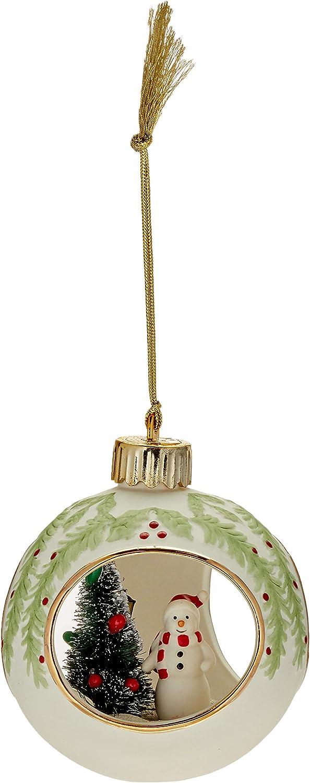 Lenox Lit Santa Scene Ornament 877831