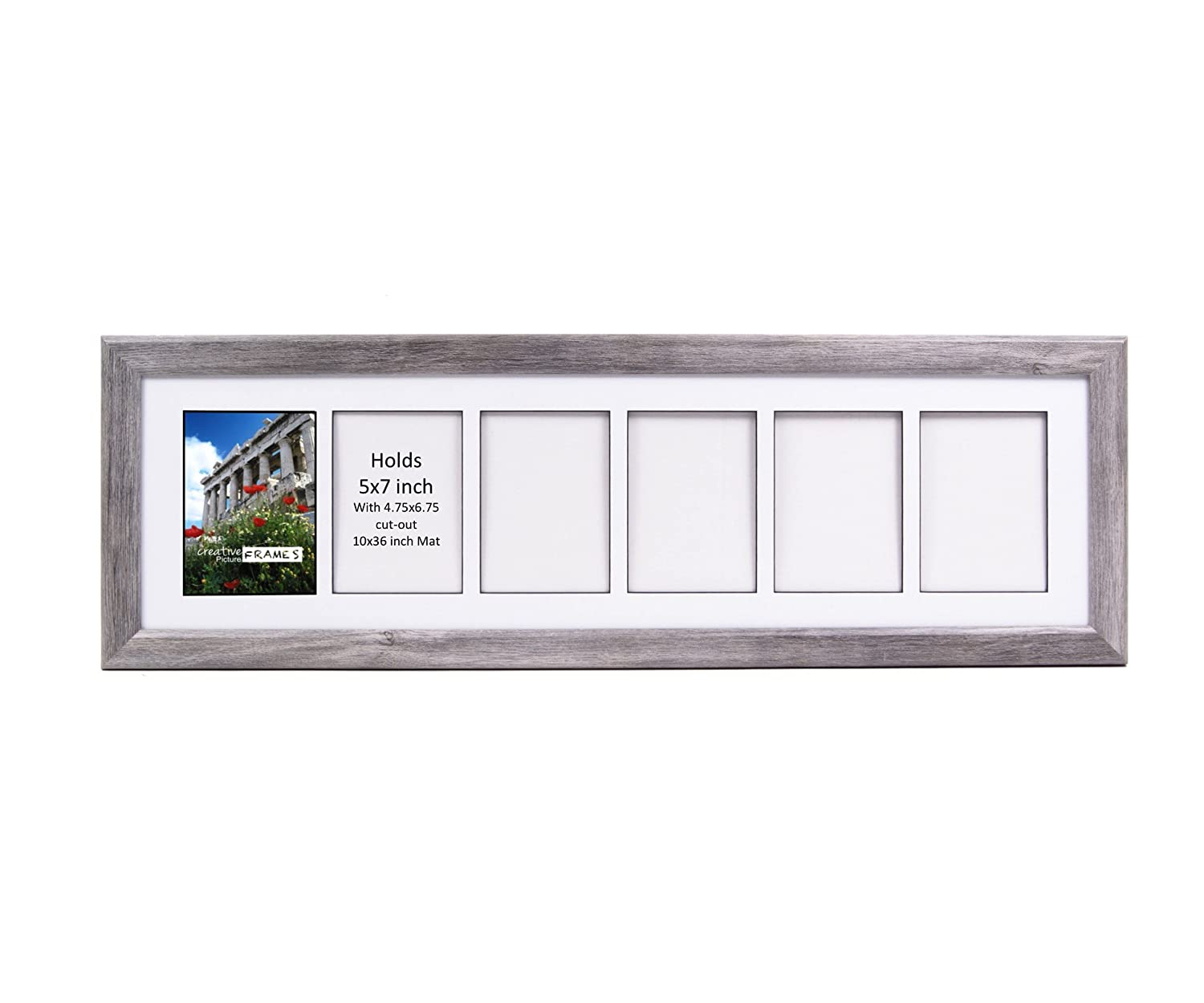 Amazon.com: CreativePF- 6 Opening Glass Face Driftwood Picture Frame ...