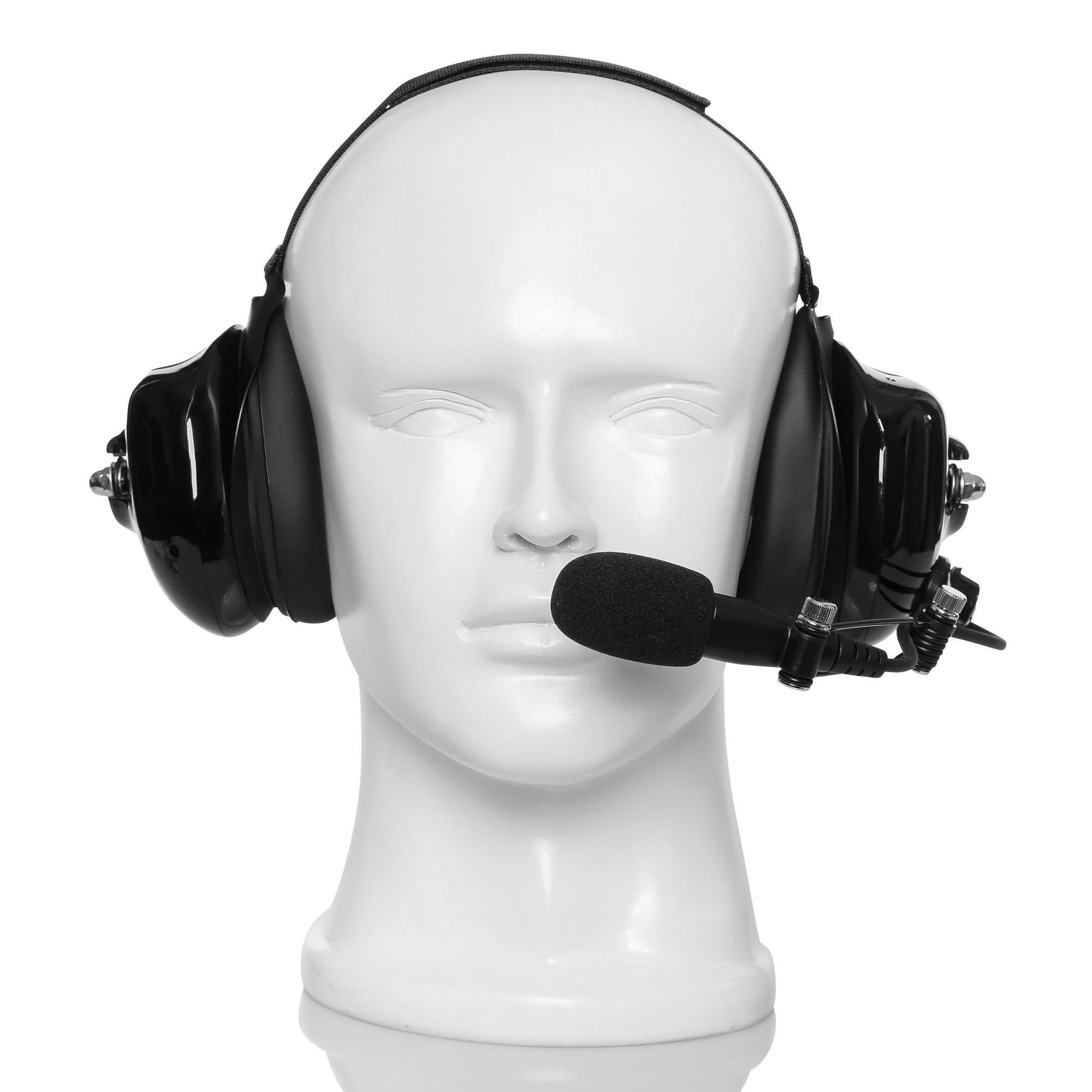 Maxtop AHDH0032-BK-M9 Two Way Radio Noise Cancelling Headset for Motorola MTP850 MTP830 XPR-7380 XPR-7550 XPR-7580 by MAXTOP (Image #2)