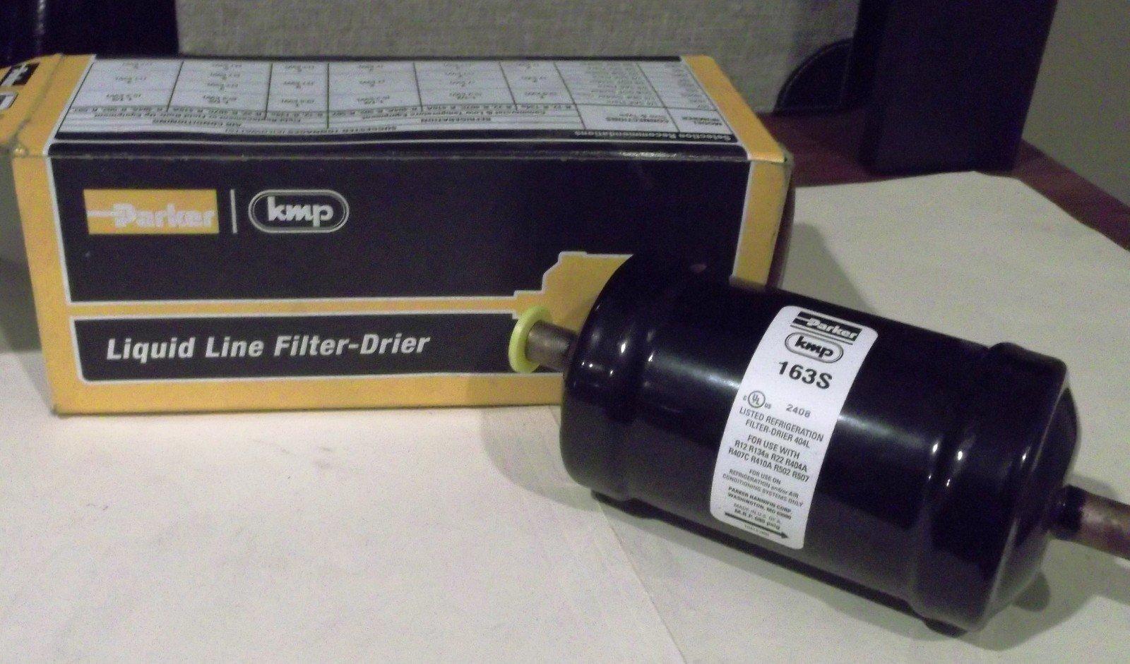Parker Hannifin 163S Gold Label Steel Liquid Line Filter-Drier, 3/8'' Odf Solder Fitting, 2.38'' Shell Diameter, 5.94'' Length