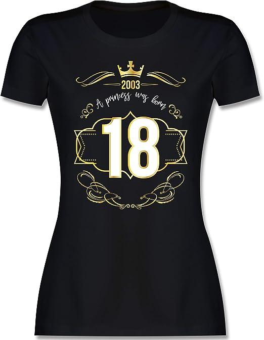 Shirtracer Geburtstag 18 Geburtstag Prinzessin Mädchen 2003 Tailliertes Tshirt Für Damen Und Frauen T Shirt Shirtracer Bekleidung