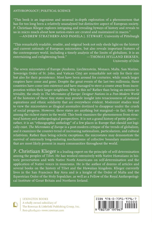 the microstates of europe klieger p christiaan