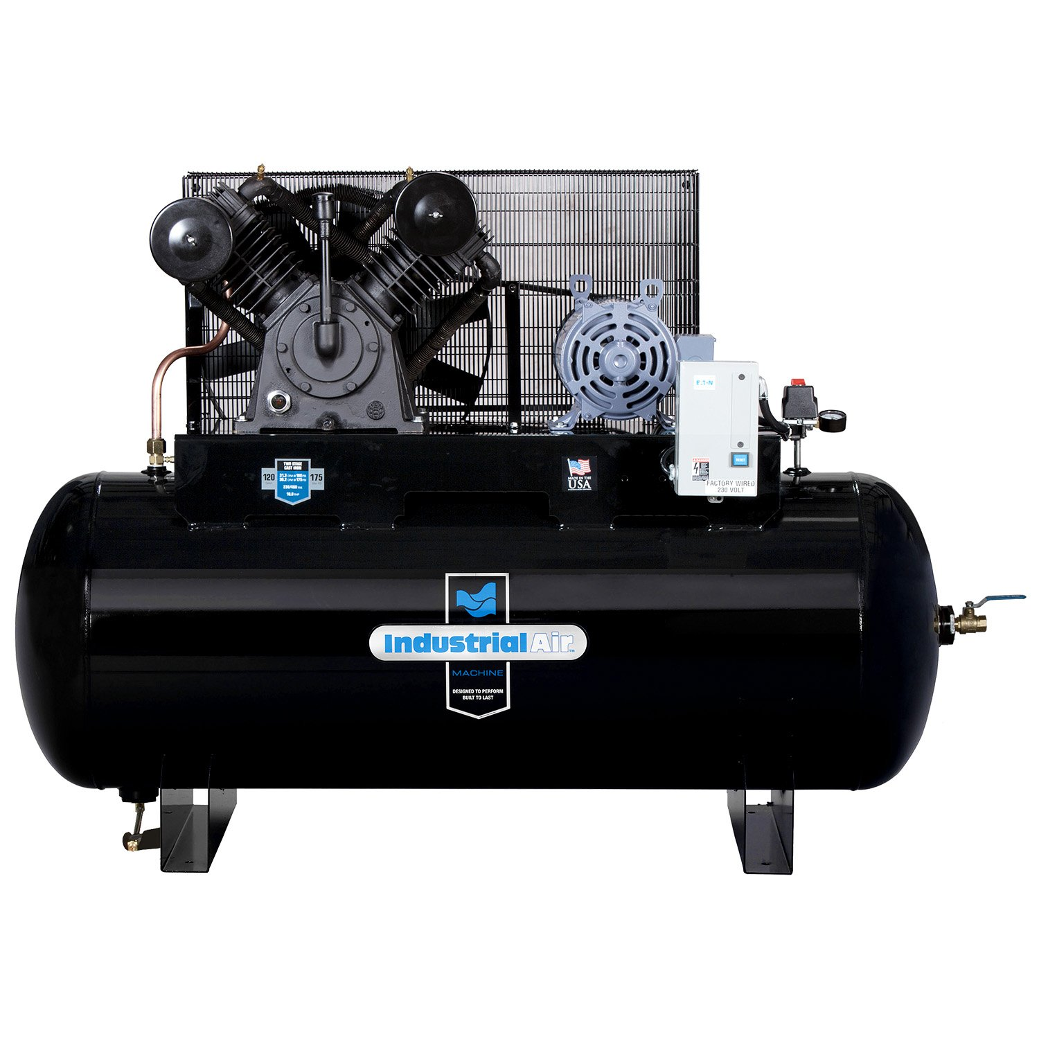 Industrial Air IH9929910 10 HP Two Stage Air Compressor, 120 gallon by Industrial Air