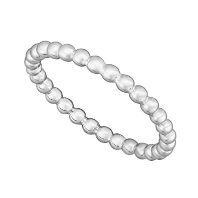 99b938799 Sterling Silver Bubble Bead Stacking Ring 2.5mm in sizes G-Z: Amazon ...