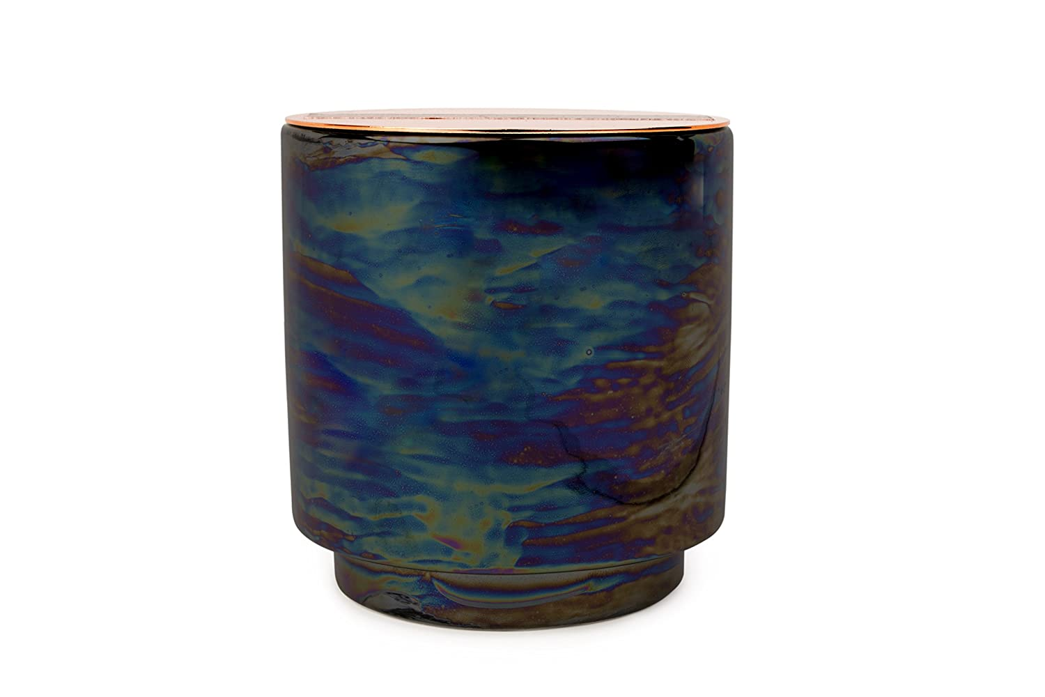 Paddywax Candles Glow Collection Scented Soy Wax Blend Candle in Iridescent  Ceramic Pot, Medium- 17 Ounce, Incense & Smoke
