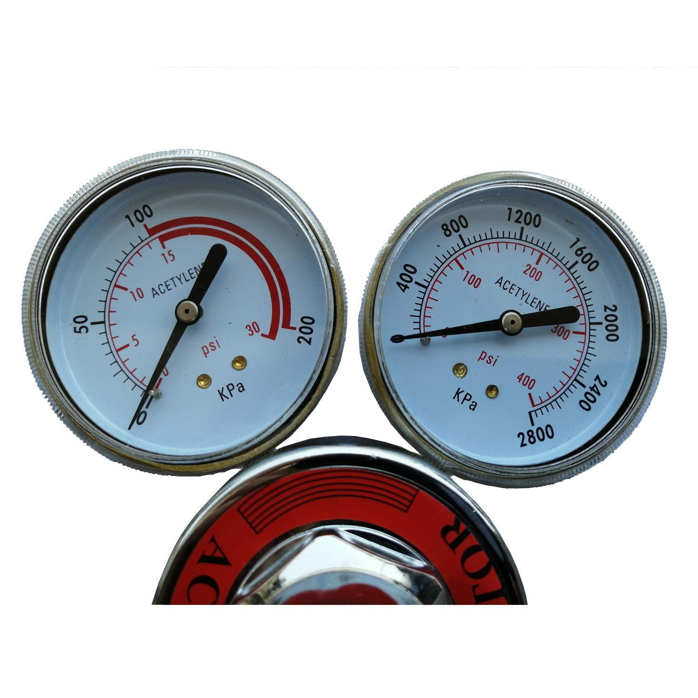 Welding Gas Pressure Gauge Welder Acetylene Regulator Torch Cutting Kits CGA510