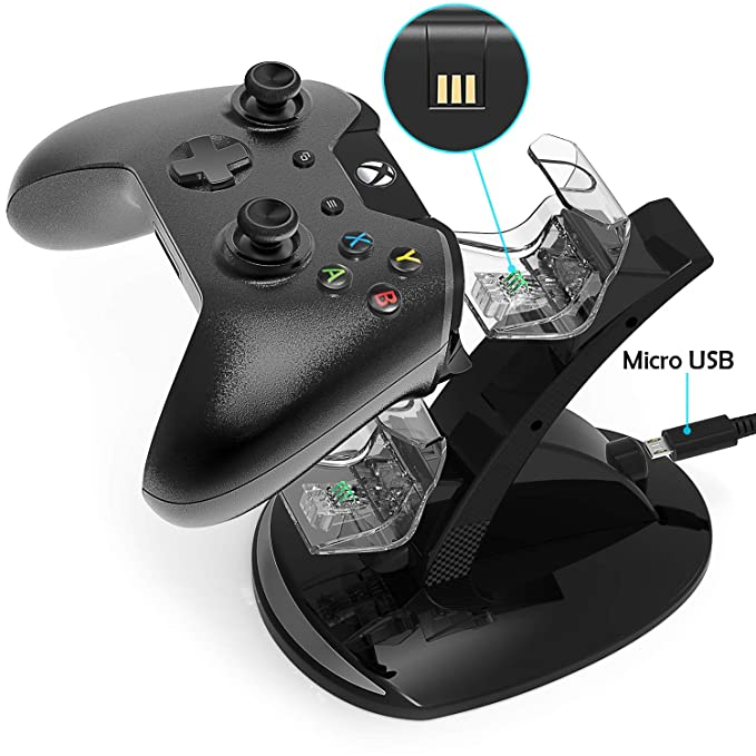 Amazon.com: Xbox One - Cargador de carga con controlador de ...