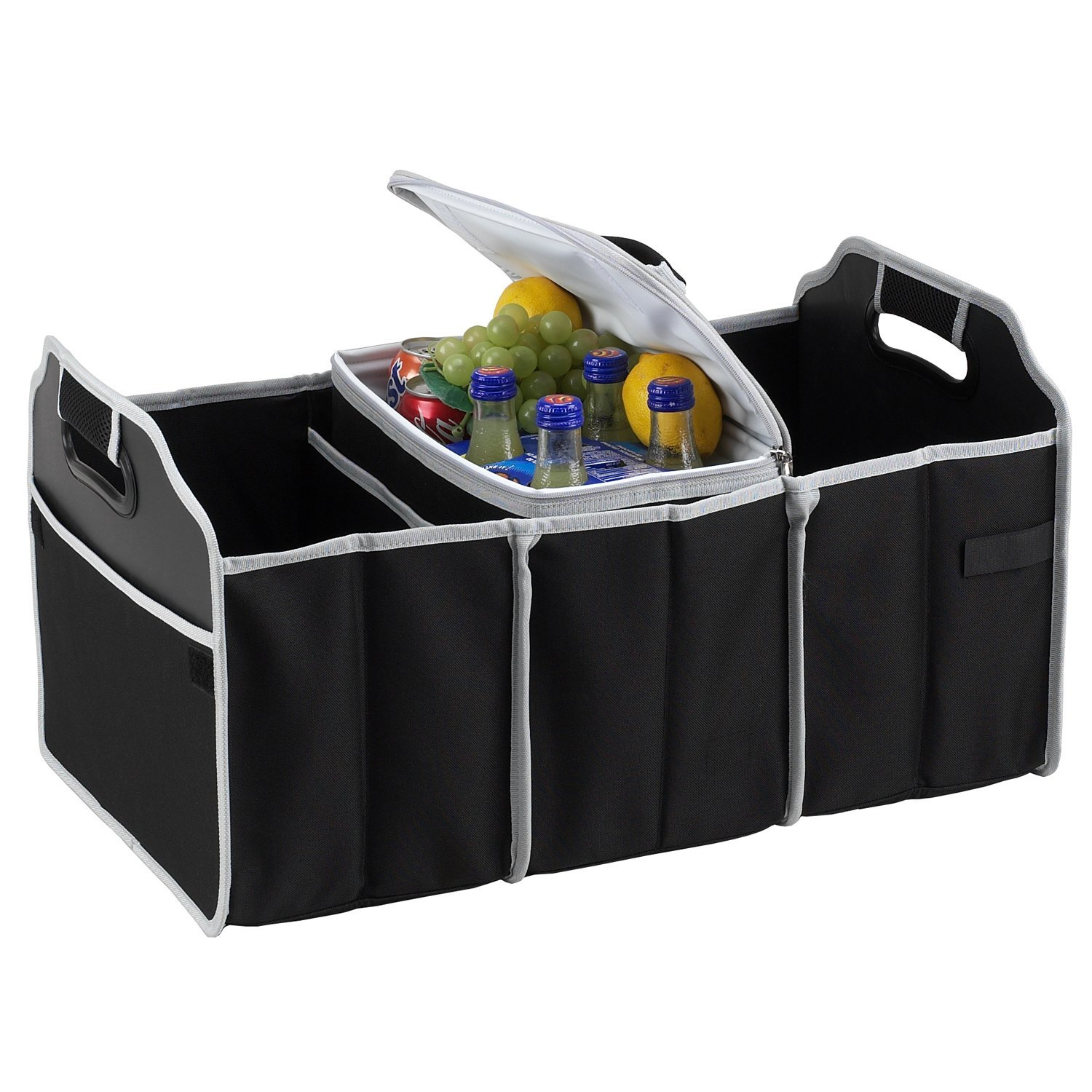 Picnic at Ascot Trunk Organizer and Cooler set -Black 8014-BLK