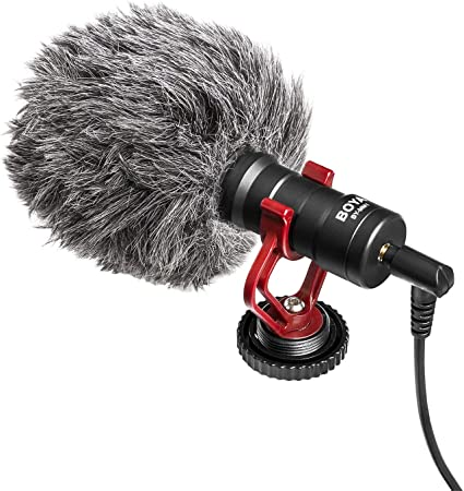 Amazon.com : On-Camera Microphone, BOYA MM1 Universal Cardioid Mic for  iPhone X 8 8 Plus 7 6 6s, DSLR, Tablets, Camera, Consumer, Camcorder, Audio  Recorders : Home Audio & Theater