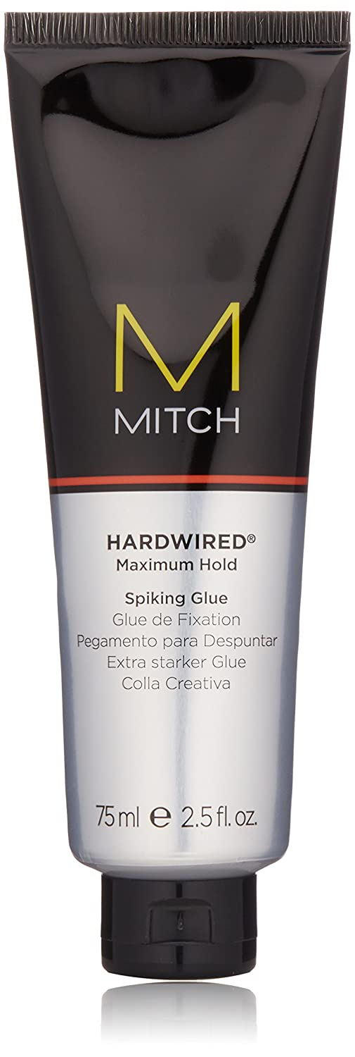 Mitch Hardwired Maximum Hold Spiking Glue by Paul Mitchell for Men - 2.5 oz Glue 218107 S-PM-190-75