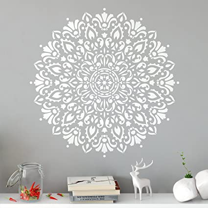 Amazoncom Harmony Mandala Stencil Template Reusable Stencil with