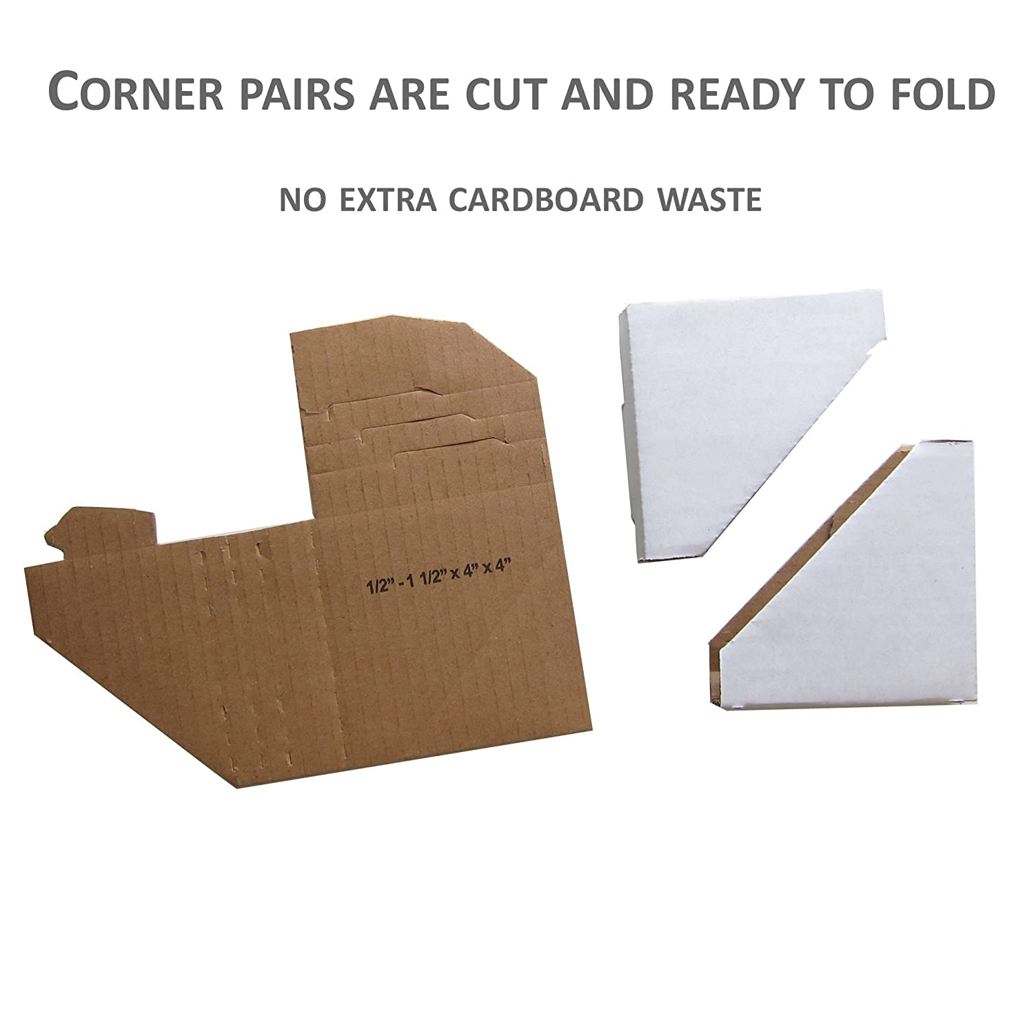 Art Supplies 10 X Cardboard Packaging Corners For Photo Framing And Mirror Protection Crafts