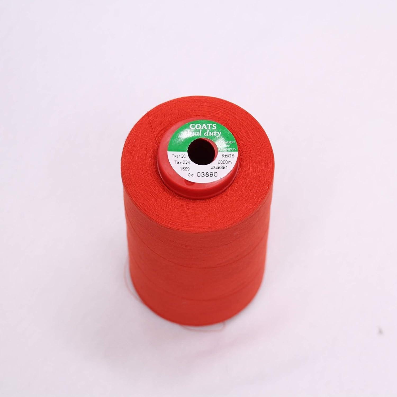 Crimson Red All Purpose Spun Sewing Thread 600 Yard Spool Hand Machine Craft