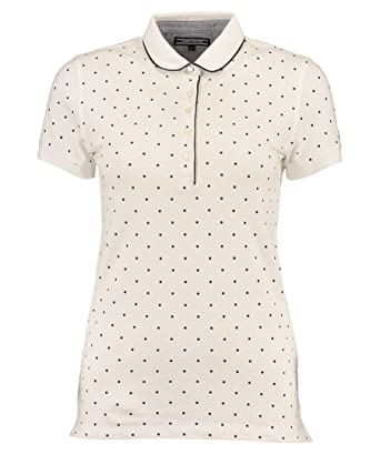 Tommy Hilfiger Augusta PRT Polo SS-Polo Mujer, Mujer, Blanco, 34 ...