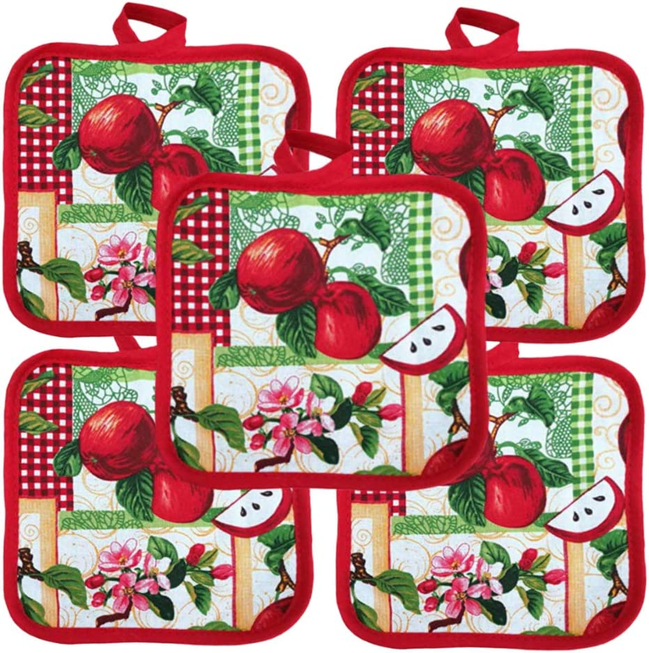 "Heat Resistant Pot Holders 6.5"" Square Solid Color (Pack of 10) 