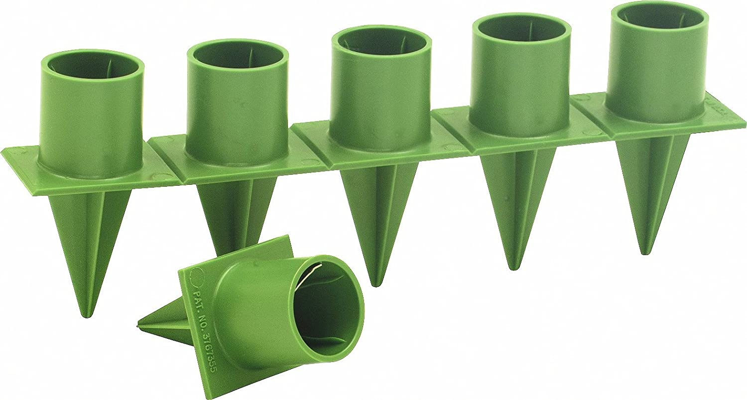 """Taper Candle Holder Standard 1"""" Green 36 Pieces Per Package Candleholder: Home & Kitchen"""