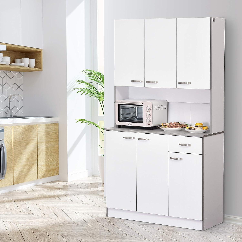 "HOMCOM 8"" Modern Freestanding Kitchen Buffet Hutch with Server"