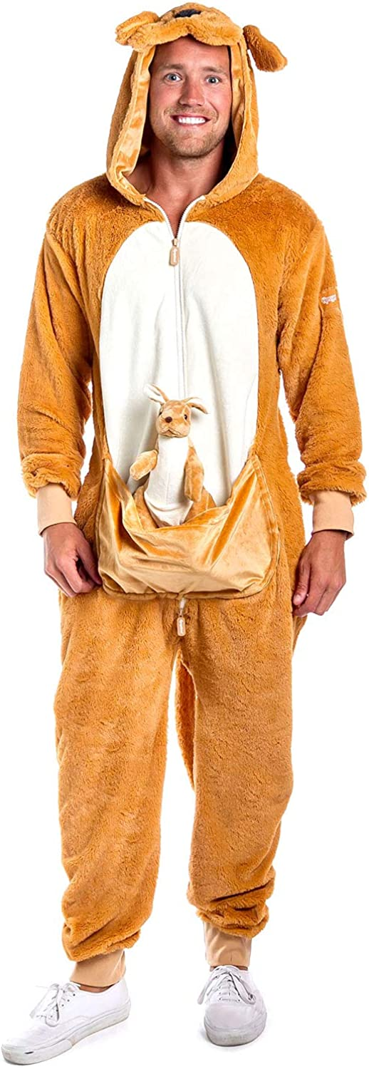 Funny Animal Kangaroo Costume for Men - Kangaroo Onesie Outfit for Halloween