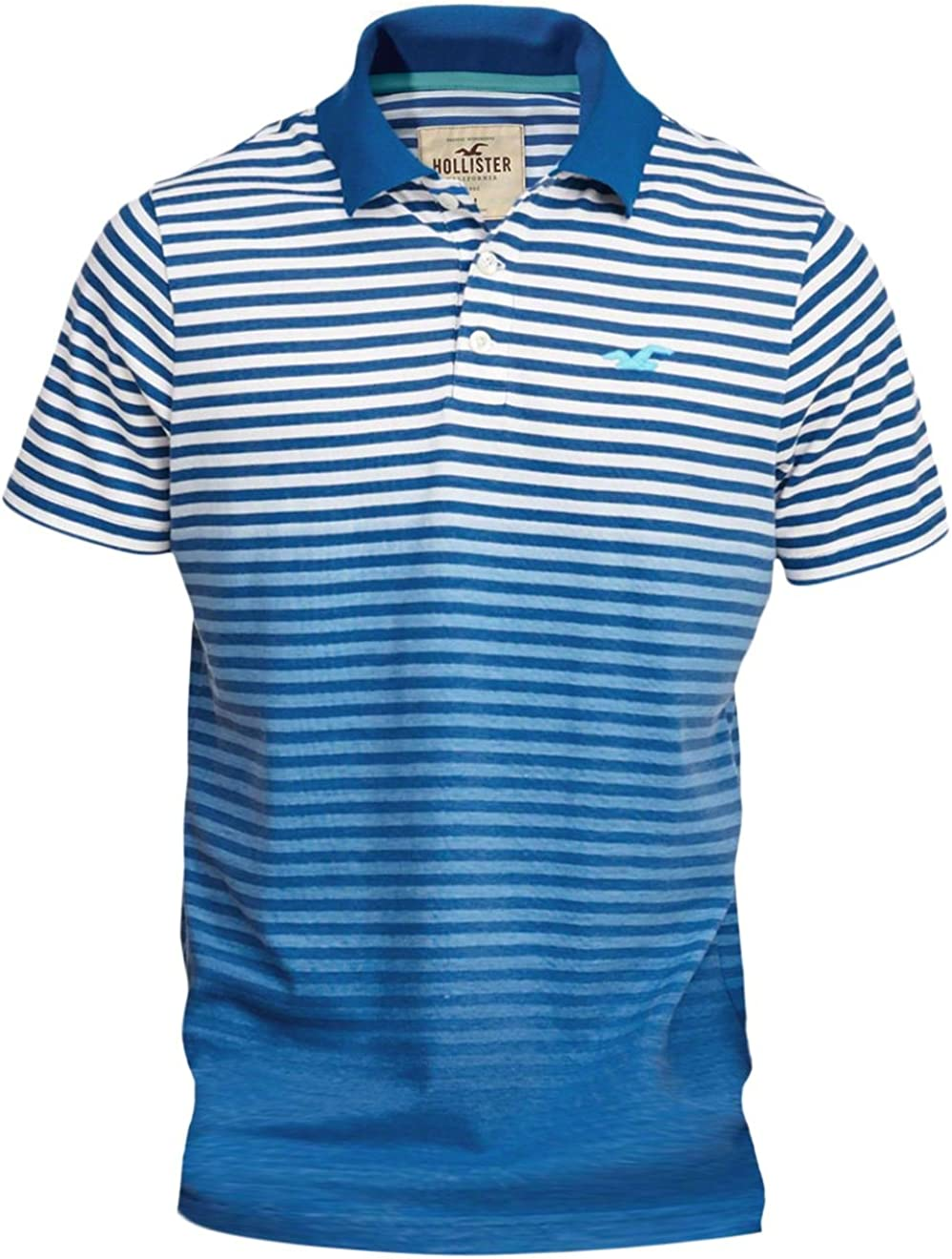 Hollister Colonia para hombre de rayas Slim Fit Icon Polo Shirt ...