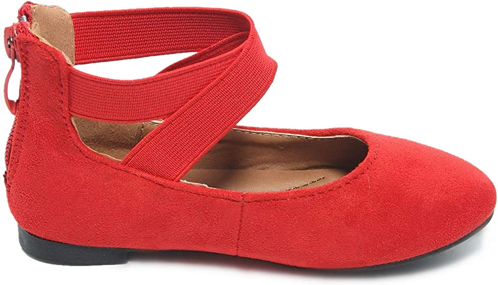Glitter Nubuck NORTY Girls Fashion Ballerina Ballet Slip On Flat Shoe Sizes Toddler to Big Kids Patent