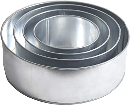 EURO TINS 4 Tier Round wedding cake pan 6 , 8 , 10 12 extra deep 5