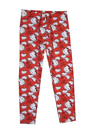 2bb1b518953d3 Girls Leggings Hello Kitty Red Printed Pants 5/6 - 13/14 yrs (9/10years):  Amazon.co.uk: Clothing