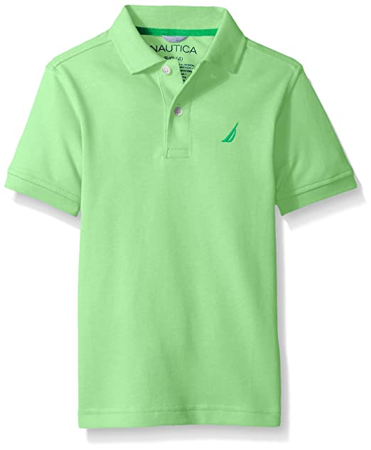 1f01cd782597af Nautica Little Boys' Short Sleeve Heritage Pique Polo,LT GREEN,Small (4