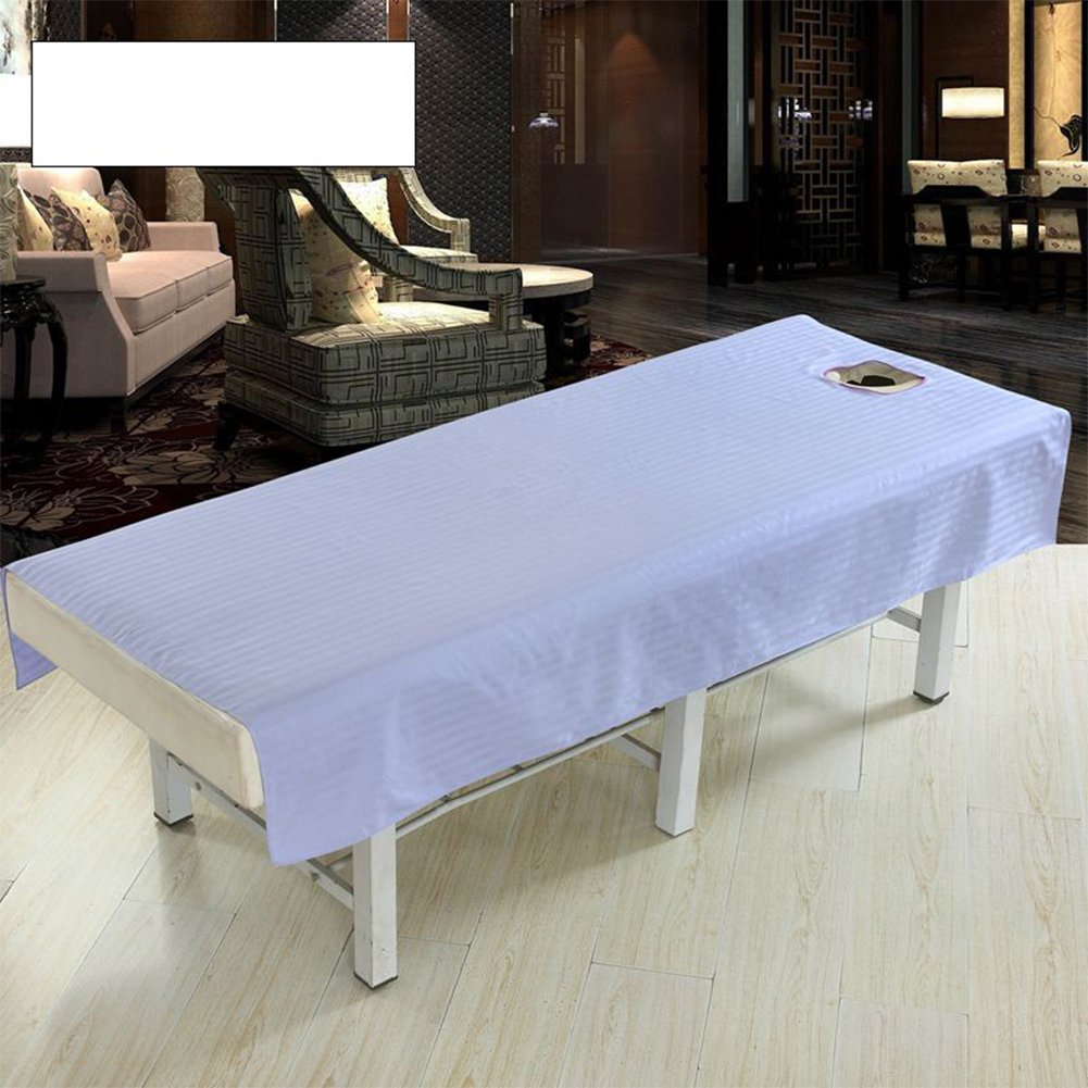 Zehui Table Cloth Cotton Bed Cover Sheet with Face Hole Pure Color Waterproof Body Spa Massage Fashion Beauty Salon Beige