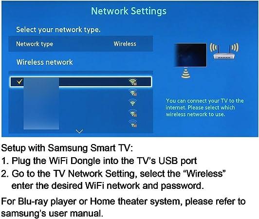Adaptador Velidy Wi-Fi inalámbrico USB para televisión, 802.11ac ...