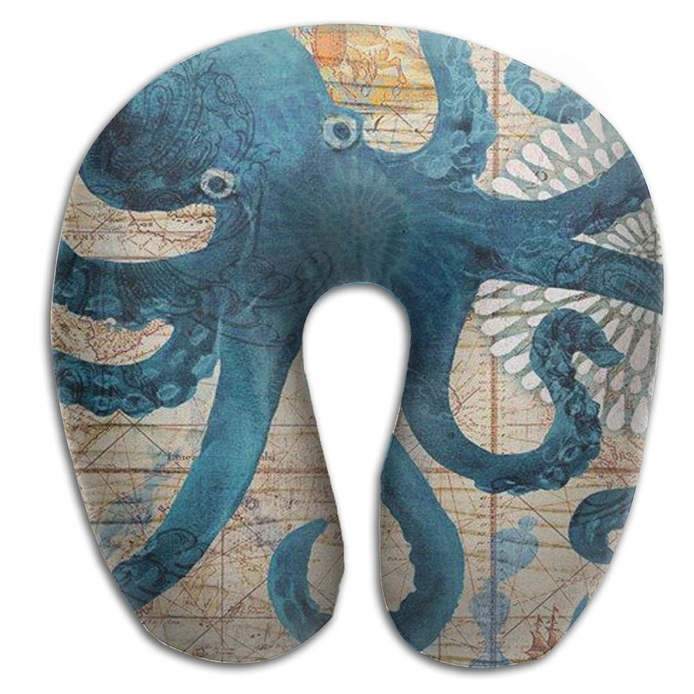 USYCHATS Super Soft Neck Support Travel Pillow For Travel, Home, Neck Pain, And Many More Octopus Ocean Animal