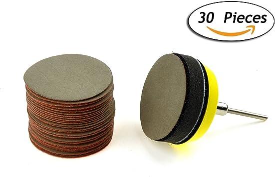 ALUMINIUM OXIDE WOOD SANDING 25 PACK 50MM HOOK /& LOOP SANDING DISC 60 GRIT