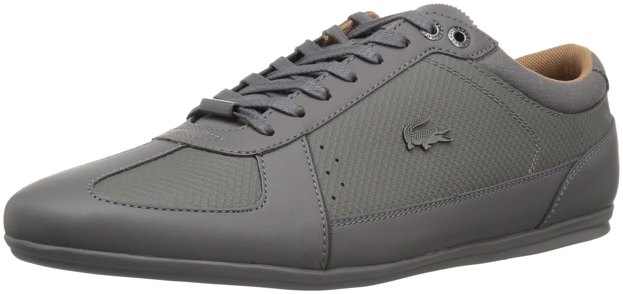 Lacoste Men's Evara 118 2 Sneaker, DKGRY/DKGRY, 7.5 M US