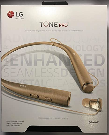 ad88affe1bc Amazon.com: LG Tone Pro HBS-780 Bluetooth Stereo Headset Gold: Cell Phones  & Accessories