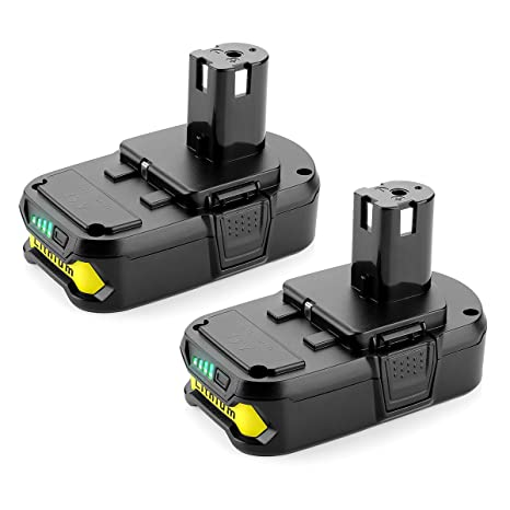 Lithium Battery Pack >> Powilling 2pack 2500mah Ryobi 18v Lithium Battery Pack Replacement For Ryobi 18 Volt One P104 P105 P102 P103 P107 Cordless Tools Battery