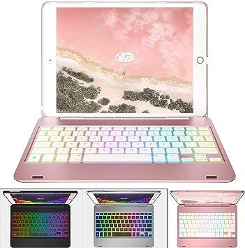 iPad Case with Keyboard - iPad Pro 9.7 Wireless//BT Backlit 7 Color YEKBEE iPad Keyboard Case for iPad 2018 - iPad 2017 6th Gen 5th Gen Thin /& Light iPad Air 2 /& 1 135/° Folding