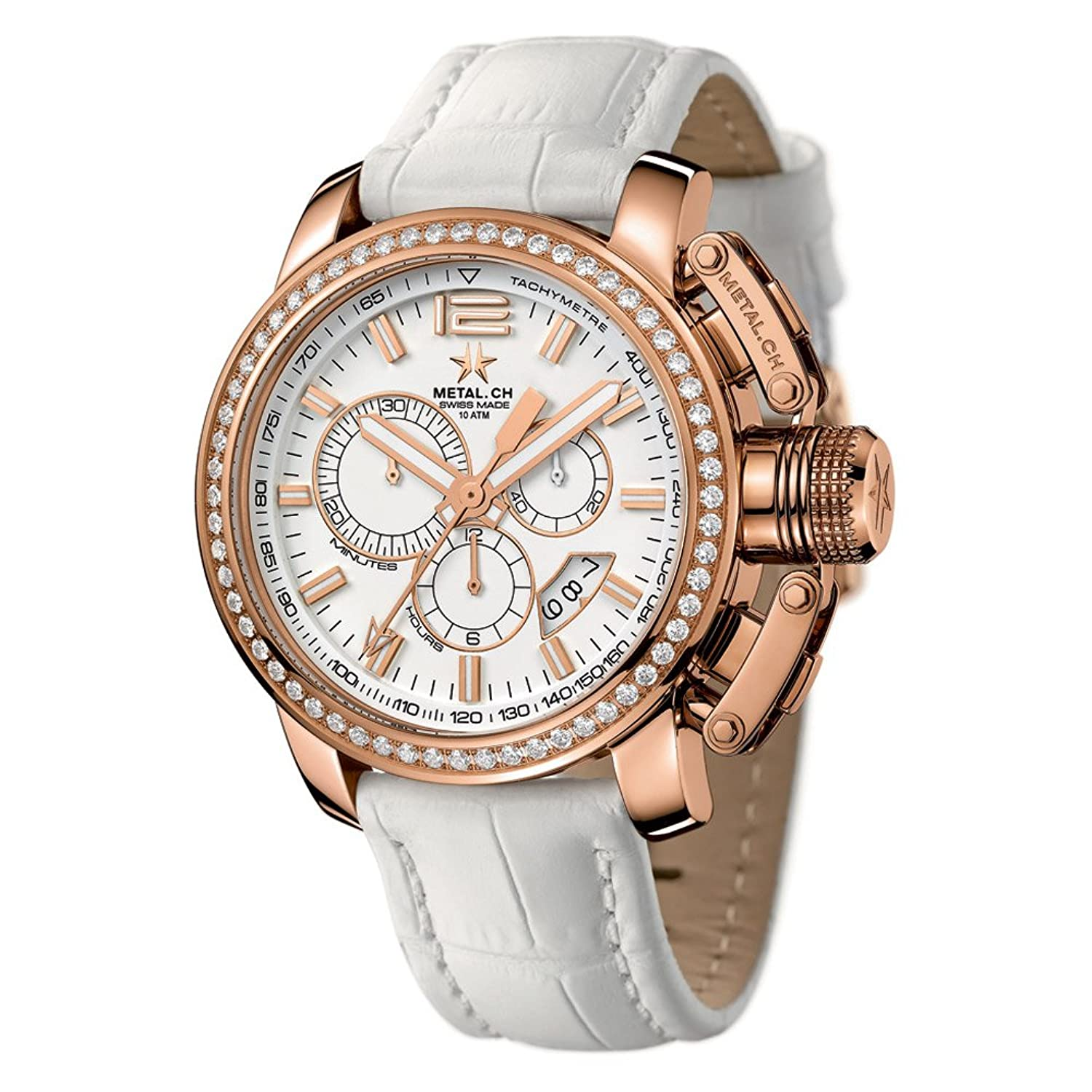 METAL Chronometrie Swiss Made Uhr - CHRONO rose gold 44mm