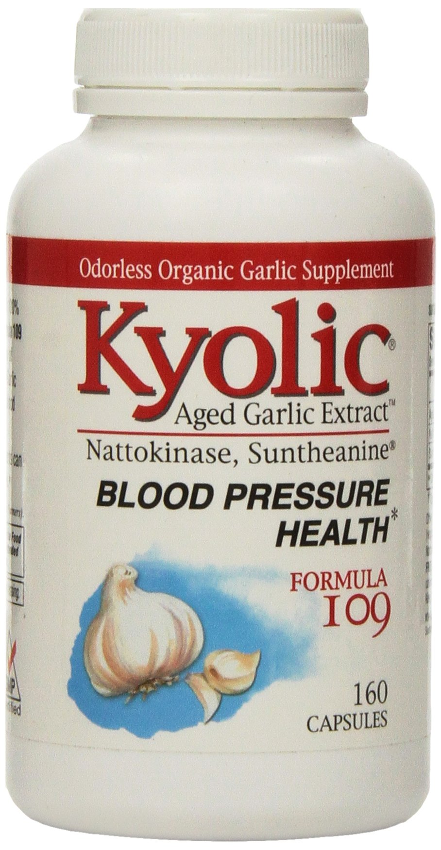 Kyolic Formula 109 Aged Garlic Extract Blood Pressure Health (160-Capsules)