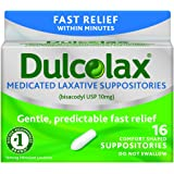 Dulcolax Medicated Laxative Suppositories, 16 Comfort-Shaped Suppositories