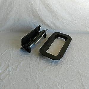 Black Aluminum Low Profile Popup Air Flow Roof Vent Trailers, RV, Trim Ring & Gasket