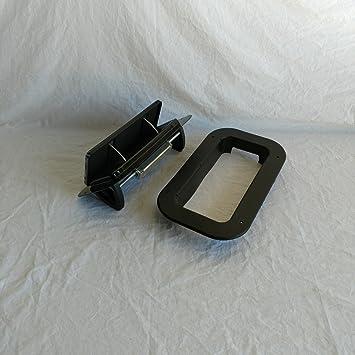 Anillo Embellecedor de perfil bajo PopUp flujo de aire ajustable para remolques, caravanas, Junta de aluminio negro: Amazon.es: Coche y moto