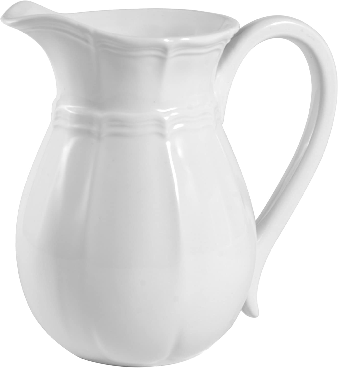 Mikasa French Countryside Pitcher, 47-Ounce, Ivory -