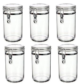 Vorratsbehälter 6er vorratsdosen vorratsbehälter kunststoff 800ml deckel mit
