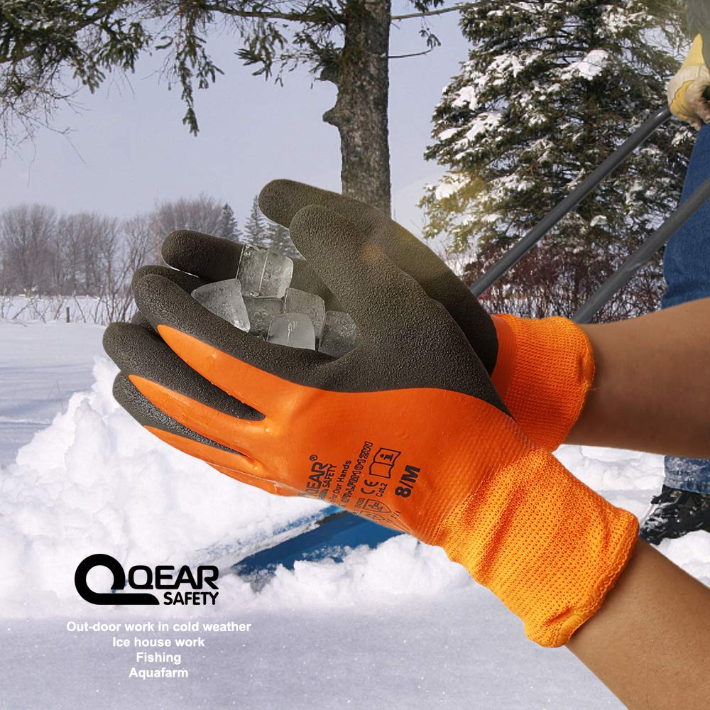 latex fully coated and sandy finish palm 7 Cold and water resistance glove Thermal work glove