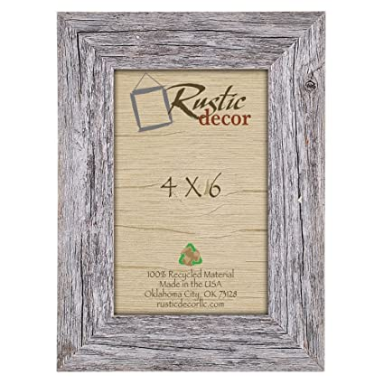 Amazon.com - 4x6 Picture Frames - Barnwood Reclaimed Wood Standard ...