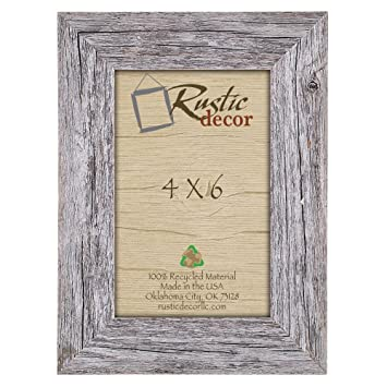 4x6 picture frames barnwood reclaimed wood standard photo frame