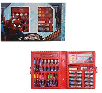 Maletín juego colores Spiderman Estuche con clip 80 unidades ...