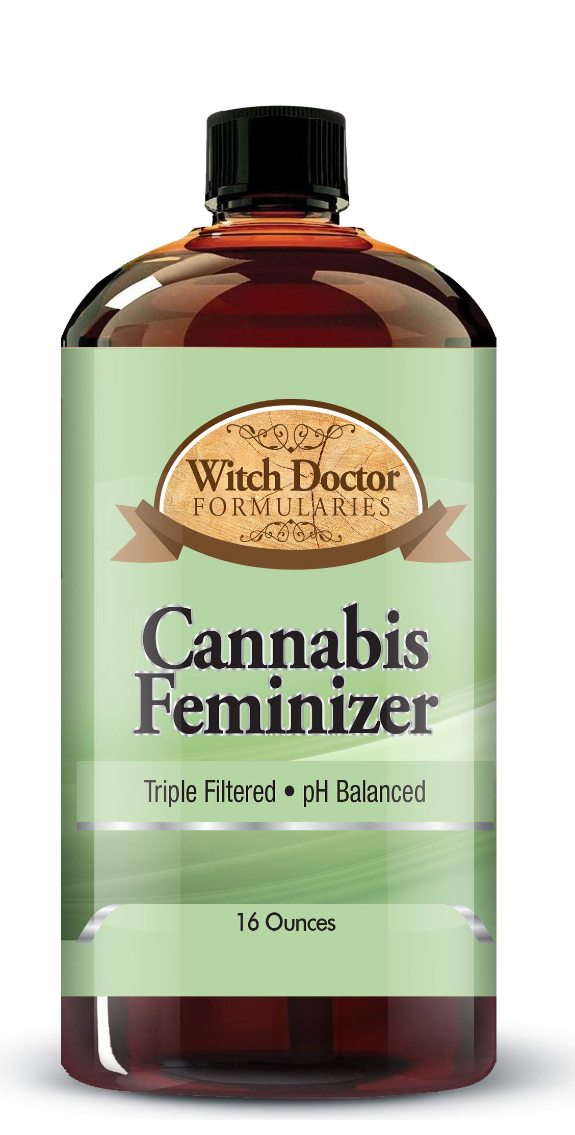 Plant Feminizing Seed Spray, Safe, Non-Toxic Colloidal Minerals, Safety Sealed 16 Ounce Bottle by Witch Doctor Formularies