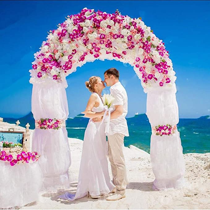 Arcos de hierro para decoración de marco de pérgola de jardín, soporte de flores, globo de boda, arco, blanco DIY decoración de fiesta: Amazon.es: Bricolaje y ...